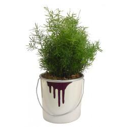 Pot de peinture en céramique