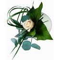 Flowerball blanche avec végétaux stabilisés