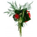 Flowerball rouge avec végétaux stabilisés