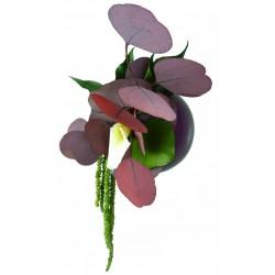Flowerball violet avec végétaux stabilisés