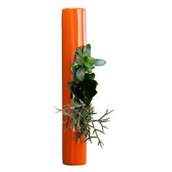 Flowertube en céramique avec végétaux vivants