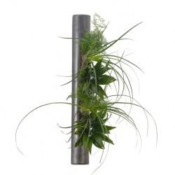 Déco végétales dans tube céramique métal